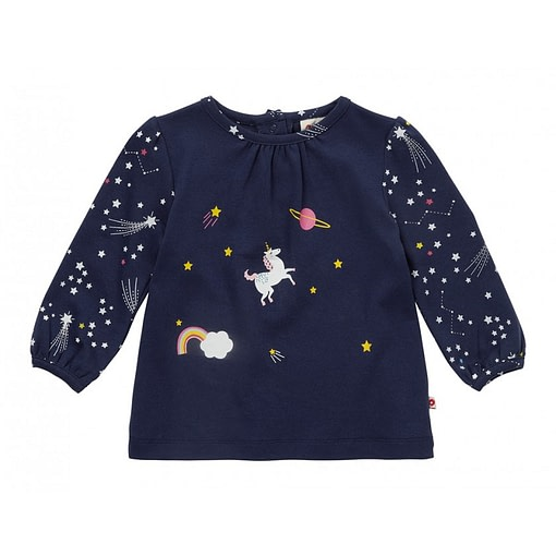 Space unicorn tunic top by Piccalilly on organic cotton 1