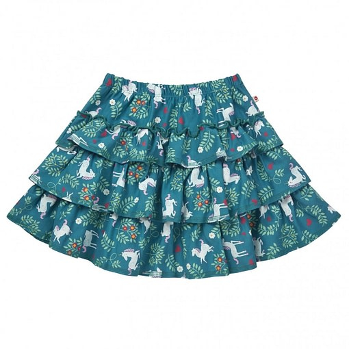 Unicorn rara skirt by Piccalilly in organic cotton (104cm 3-4) 1