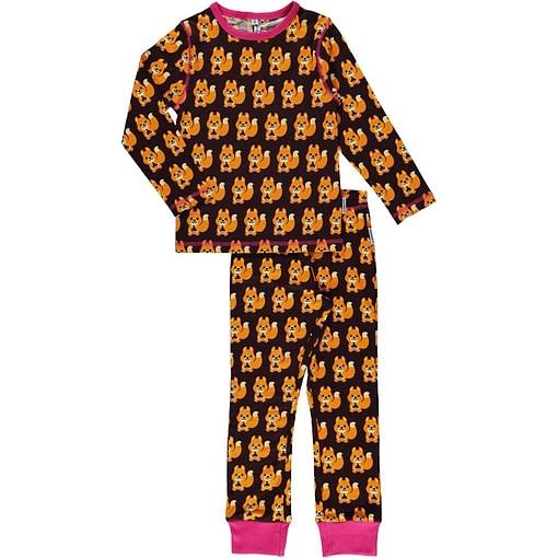 Maxomorra organic cotton pyjamas in squirrel design (110-116cm age 4-6) 1