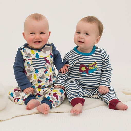 Ice animals dungarees in organic cotton jersey by Kite 2