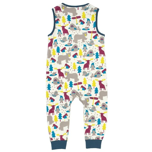 Ice animals dungarees in organic cotton jersey by Kite 3