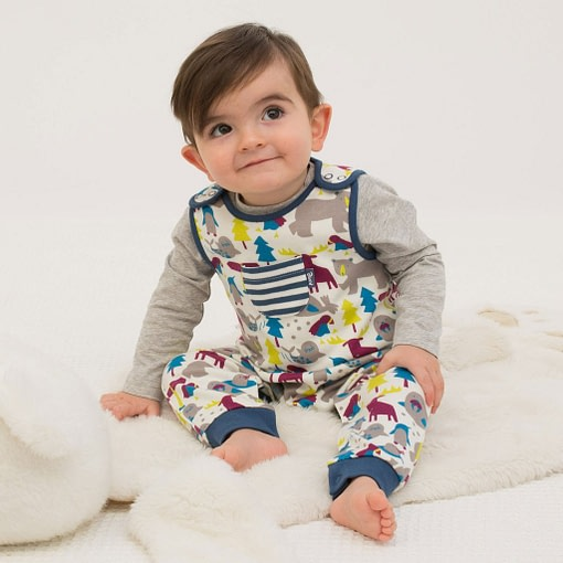 Ice animals dungarees in organic cotton jersey by Kite 4