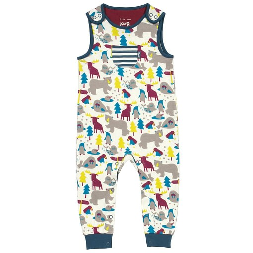 Ice animals dungarees in organic cotton jersey by Kite 1