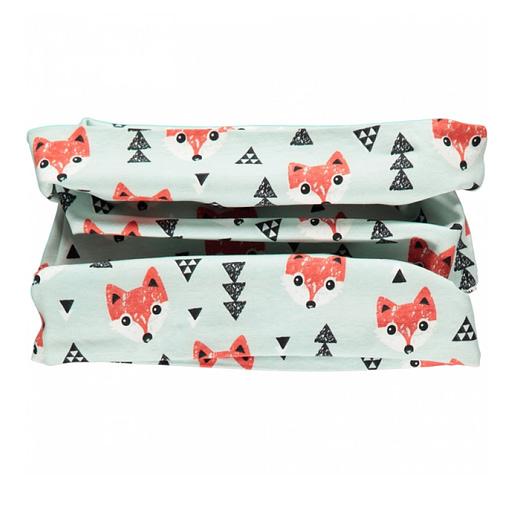 """Foxes """"plus"""" organic cotton tube scarf from Maxomorra 1"""