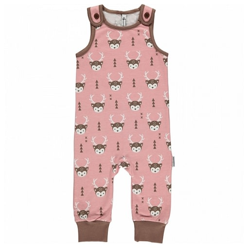 Deer playsuit dungarees by Maxomorra in organic cotton (80cm 9-12m) 1