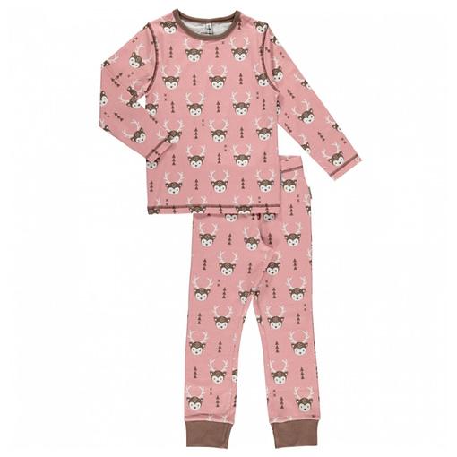 Maxomorra organic cotton pyjamas in deer print (122-128cm Age 6-8) 1