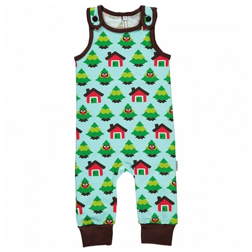 Forest dungarees by Maxomorra in organic cotton 1