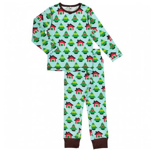 Maxomorra organic cotton pyjamas in forest design (86-92cm Age 18-24m) 1
