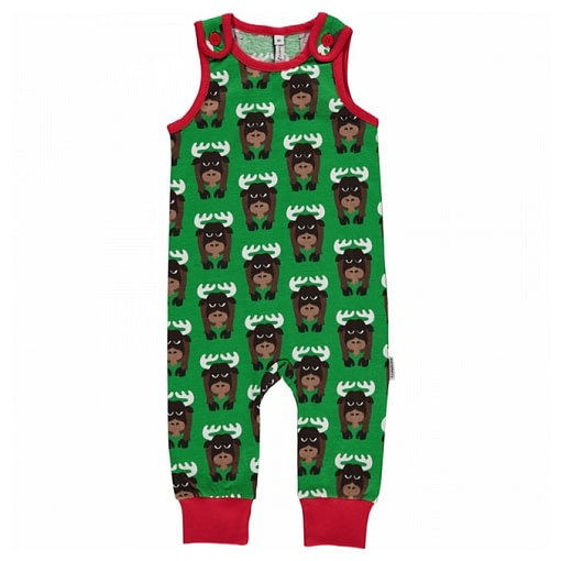Moose dungarees by Maxomorra in organic cotton 1
