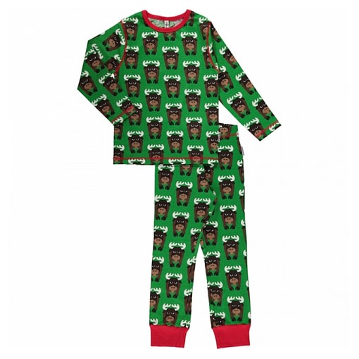 Maxomorra organic cotton pyjamas in moose design 1