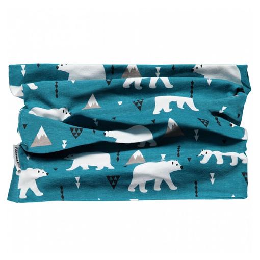 Polar bear organic cotton tube scarf from Maxomorra 1