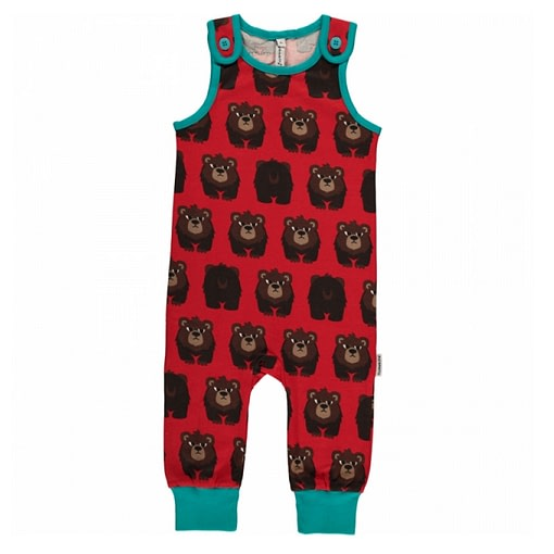 Bear dungarees by Maxomorra in organic cotton 1