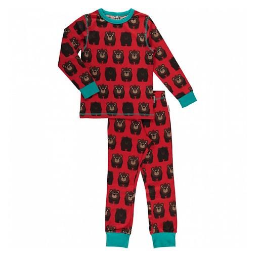 Maxomorra organic cotton pyjamas in bear design (122-128cm Age 6-8) 1