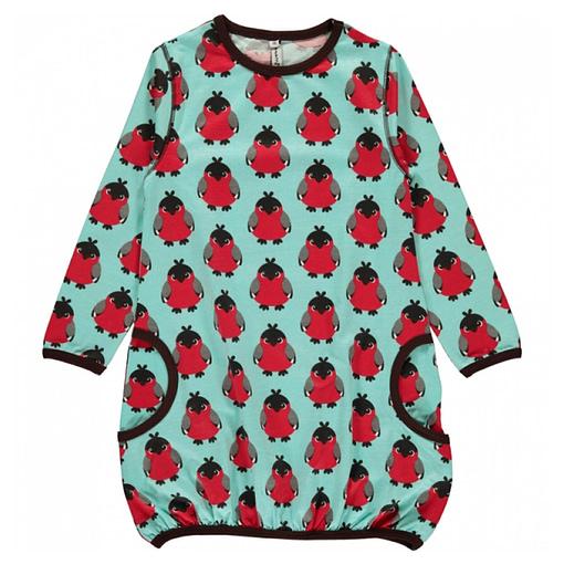 Bird balloon dress by Maxomorra in organic cotton 1