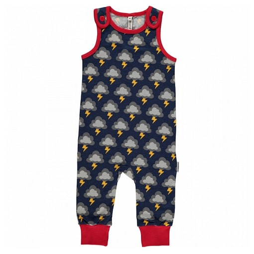Lightning dungarees by Maxomorra in organic cotton 1