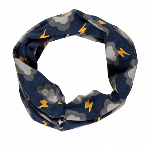 Lightning clouds organic cotton tube scarf from Maxomorra 1