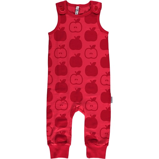 Apple dungarees from Maxomorra Mono in organic cotton (74cm 6-9 months) 1