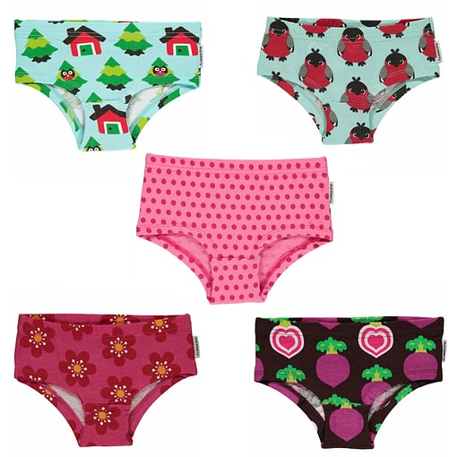 Maxomorra organic cotton hipster knickers | forest (18-24m 86-92cm) 1