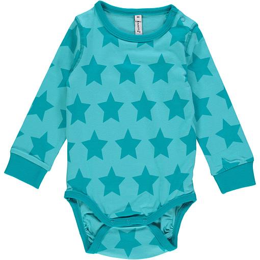 Star organic cotton long sleeve bodysuit - Maxomorra Mono 1