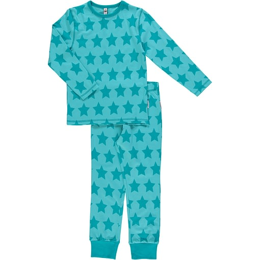 Maxomorra organic cotton pyjamas in star design (122-128cm Age 6-8) 1