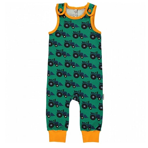 Tractor dungarees by Maxomorra in organic cotton (80cm 9-12 months) 1