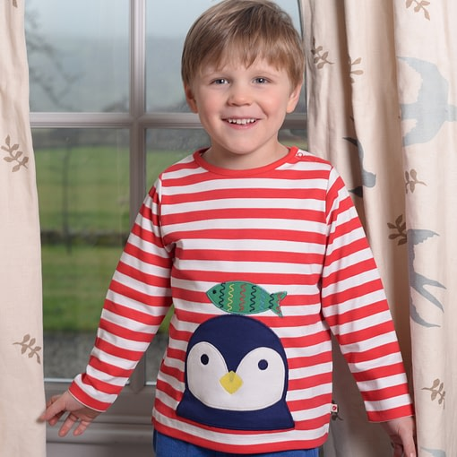 Penguin top by Piccalilly on organic cotton 2