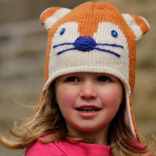 Ginger fox fairtrade hat by Piccalilly 2