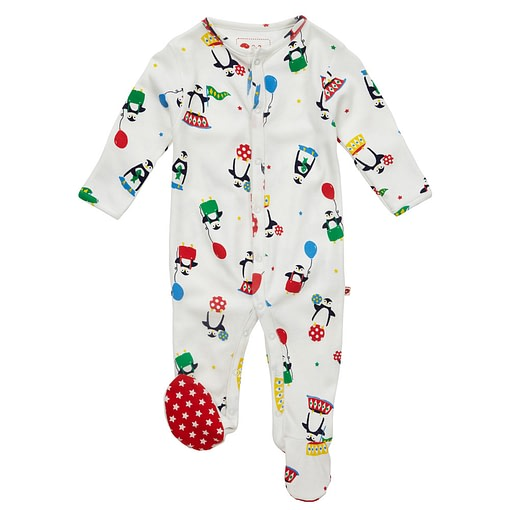 Christmas penguin sleepsuit by Piccalilly in organic cotton 1