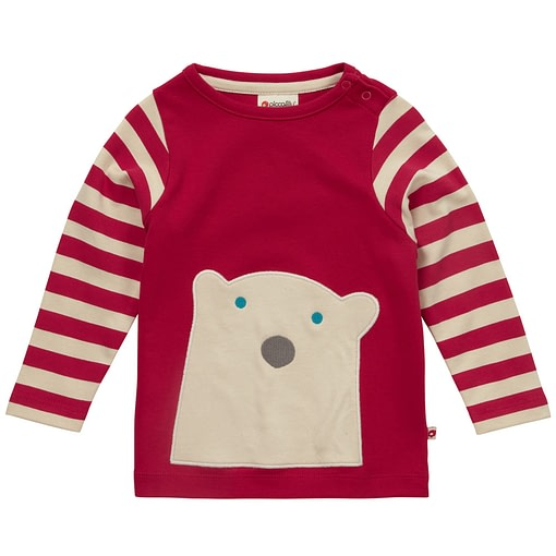 Polar bear top by Piccalilly in organic cotton 1
