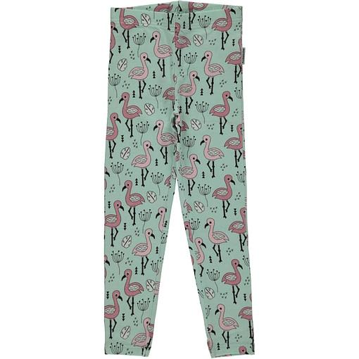 Sweet flamingo organic cotton leggings from Maxomorra 1