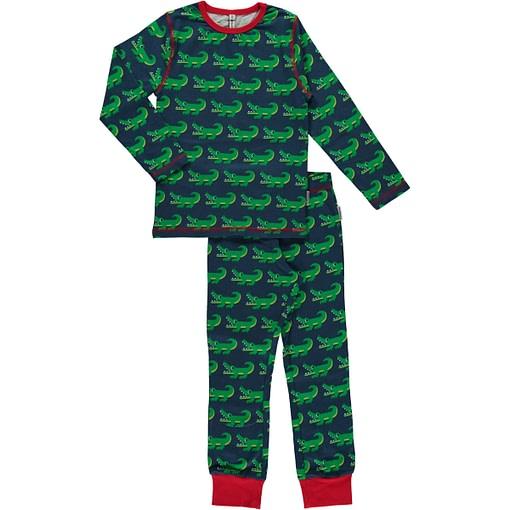 Maxomorra organic cotton long sleeve crocodile pyjamas (110-116cm Age 4-6) 1