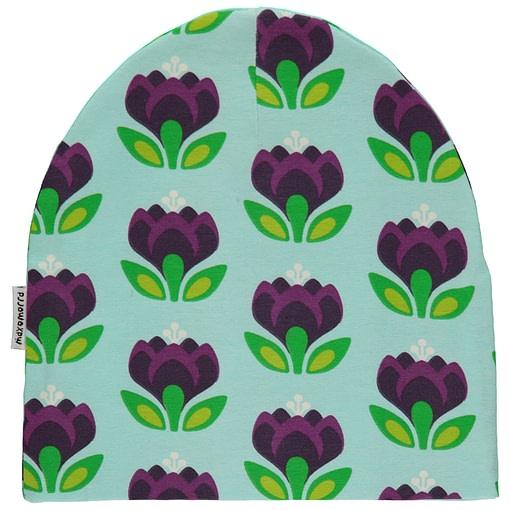 Crocus organic cotton beanie hat from Maxomorra 1