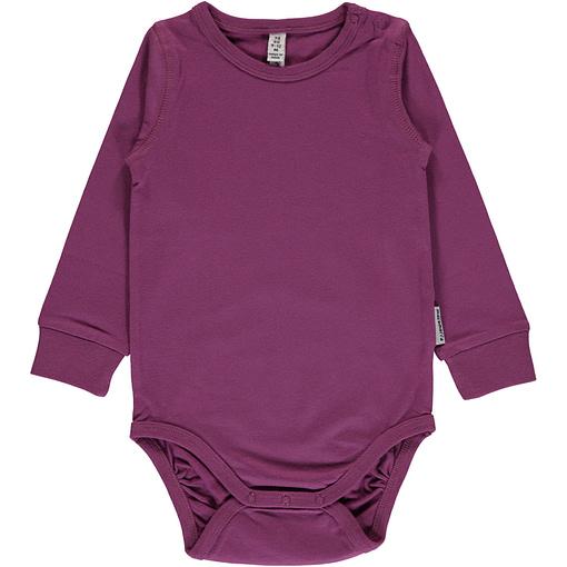 Maxomorra Purple plain long sleeve organic baby vest (86/92cm 18-24m) 1