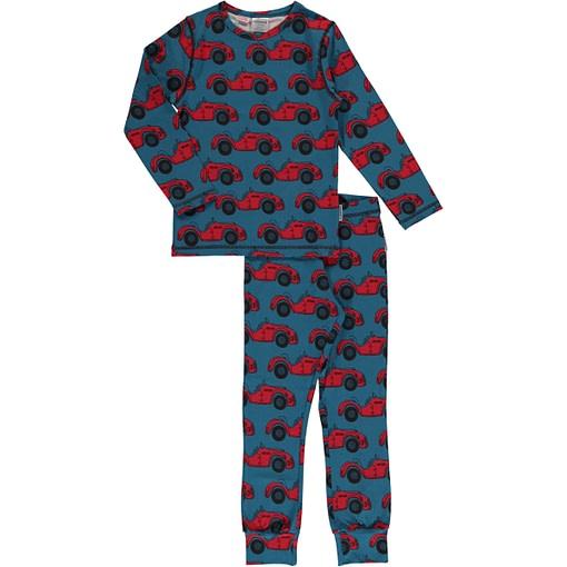 Maxomorra organic cotton pyjamas in red cabriolet car print 1