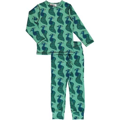 Maxomorra organic cotton pyjamas in peacock print (98-104cm 2-4) 1