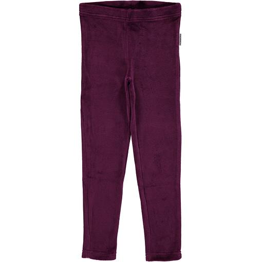 Purple leggings in organic blend velour - Maxomorra (86cm 12-18m) 1