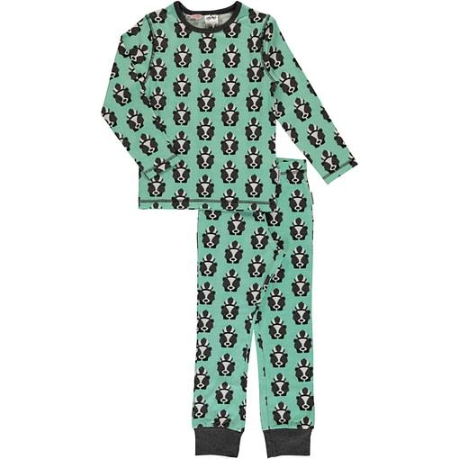 Maxomorra organic cotton pyjamas in funky skunk print 1