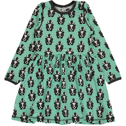 Skunk print organic cotton spin dress from Maxomorra (110-116cm 4-6) 1