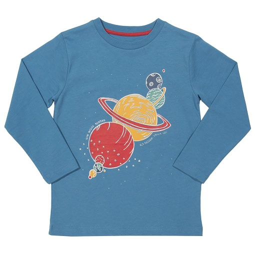 Solar system long sleeve t-shirt by Kite in organic cotton 1