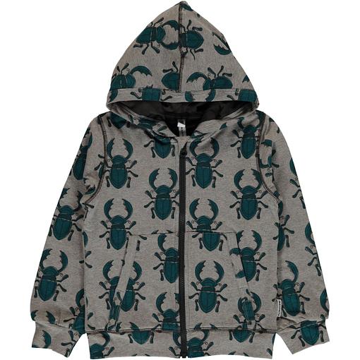 Maxomorra beetle print organic cotton cardigan with hood (98-104cm 2-4Y) 1