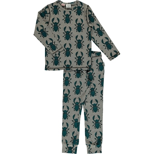 Maxomorra organic cotton pyjamas in beetle print (98/104cm 3-4 years) 1