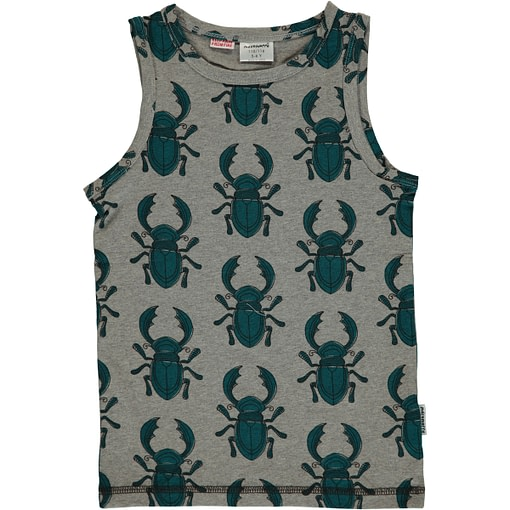 Maxomorra ~ beetles organic cotton sleeveless vest (98-104cm Age 3-4) 1
