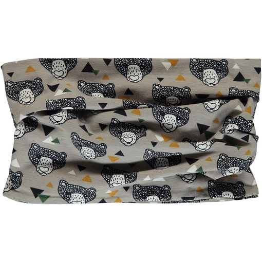 Grizzly bear organic cotton tube scarf from Maxomorra 1