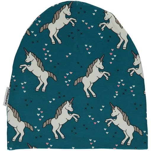 Unicorn dreams organic cotton beanie hat from Maxomorra (48/50) 1