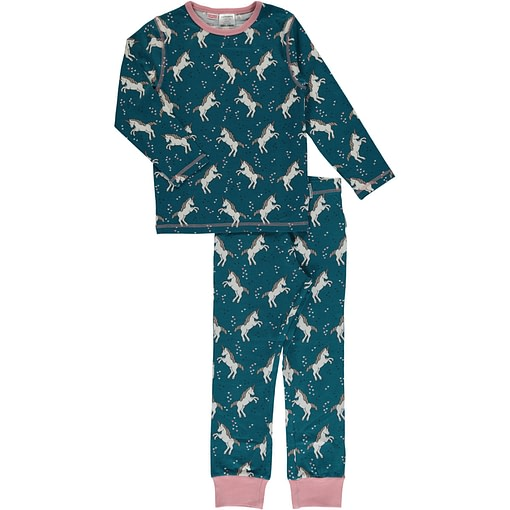 Maxomorra organic cotton pyjamas in unicorn dreams print (122-128cm 6-8 years) 1