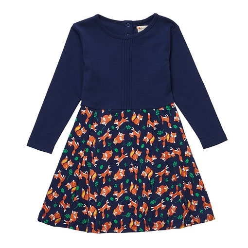 Fox print dress by Piccalilly (104cm 3-4) 1