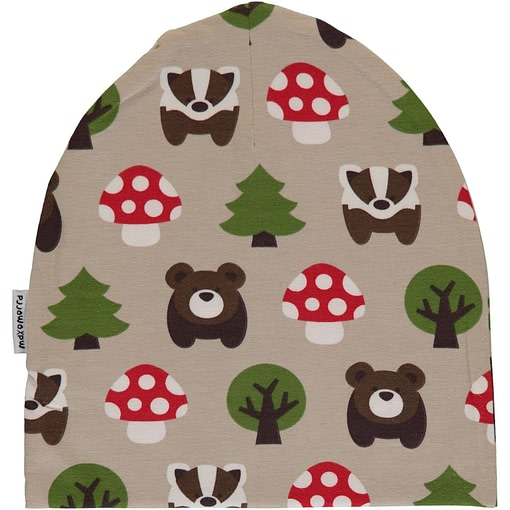 Forest animals organic cotton beanie hat from Maxomorra (48/50) 1