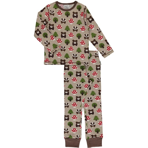 Maxomorra forest print on organic cotton pyjamas (122-128cm age 6-8) 1