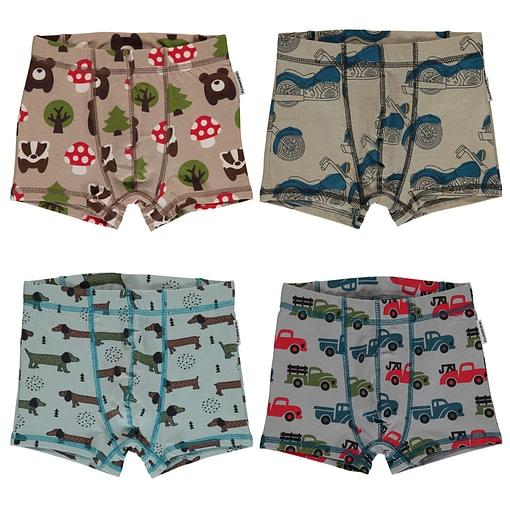 Maxomorra organic cotton boxers | Forest | Truck 1