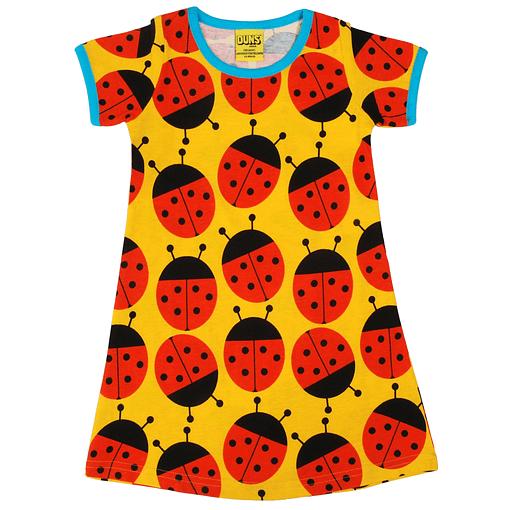 DUNS Sweden ladybug yellow organic short sleeve a-line dress (116 5-6Y) 1